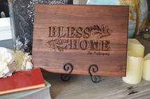Bless This Home Personalized Cutting Board (Walnut, Maple, or Cherry)
