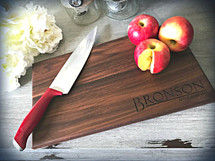 Personalized Engraved Cutting Board The Bronson (Walnut, Maple, or Cherry)