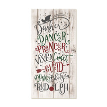 Dasher Dancer Prancer 9x18