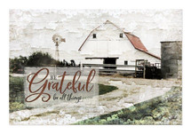 Be Grateful For All Things Rustic Wood Wall Sign 12x18