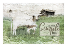 Live The Simple Life 12x18