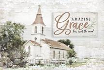Amazing Grace Rustic Wood Wall Sign 12x18