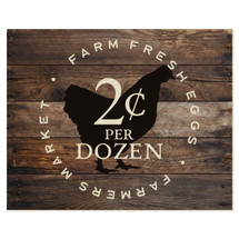 Farm Fresh Eggs 12x15
