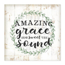 Amazing Grace How Sweet The Sound Rustic Wall Sign 12x12