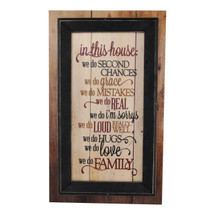 In This House We Do Second Chances Framed TimberPrintz Sign 12x20