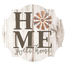 Home Sweet Home Windmill Scalloped Wall Sign 12x13