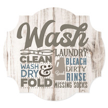 Wash Laundry Scalloped Wall Sign 12x13