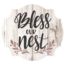 Bless Our Nest Scalloped Wall Sign 12x13