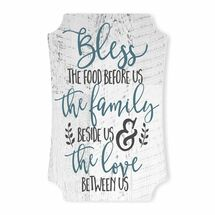 Bless The Food Before Us Scalloped Wall Sign 8x12