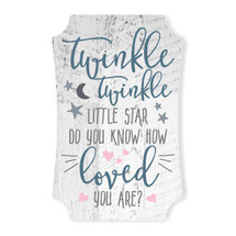 Twinkle Twinkle Little Star Do You Know How Loved You Are Scalloped Wall Sign 8x12