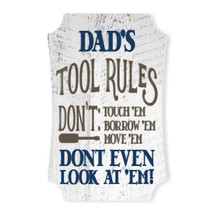 Dad's Tool Rules Scalloped Wall Sign 8x12