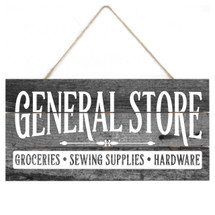 General Store Rustic Wooden Plank Sign 5x10