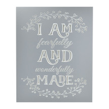 I Am Fearfully And Wonderfully Made Engraved Wood Wall Sign 12x15
