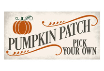 Pumpkin Patch Rustic Wood Wall Sign 9x18