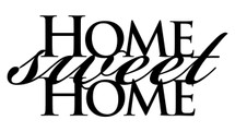 Home Sweet Home Word Art