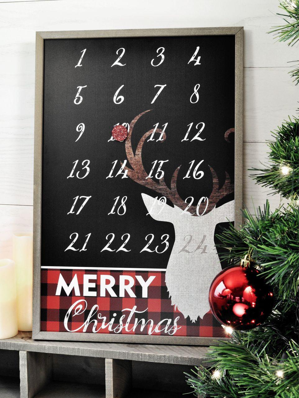 Christmas Countdown.Rudolph Christmas Countdown Calendar 16x24