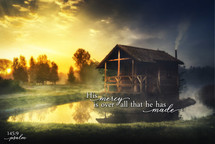 His mercy is over all TimberArt 24x36