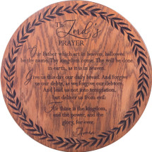 The Lord's Prayer Carved 18""