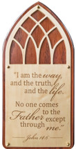 I Am The Way, Truth And Life Carved 10x20 Cherry