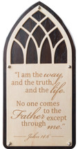 I am the way, truth and life Carved 10x20 Kona