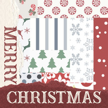 Merry Christmas - Whimsical Pattern Shelf Block 5x5