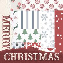 Merry Christmas - Whimsical Pattern Shelf Block 5x5