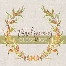 Thanksgiving Blessings Shelf Block 5x5