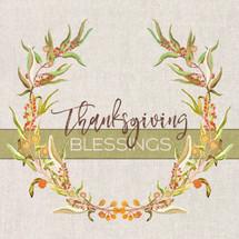 Thanksgiving Blessings Shelf Block 5x5