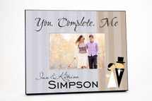 You Complete Me Wedding Picture Frame 4x6