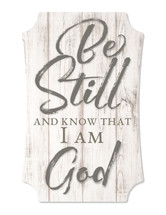 Be Still And Know Scalloped Wall Sign 8x12