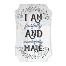 I Am Fearfully And Wonderfully Made Scalloped Wall Sign 8x12