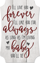 I'll Love You Forever Scalloped Wall Sign 8x12