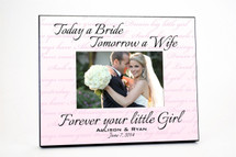 Forever Your Little Girl Wedding Picture Frame 4x6