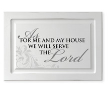 As For Me And My House Raised Panel Cabinet Door Sign 15.5 x 23
