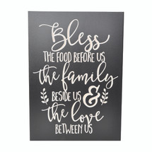 Bless The Food Before Us Carved Wood Sign 10x14