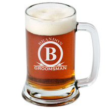 16 Ounce Personalized Beer Mug Monogram (Sold Individually)