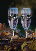Personalized Champagne Toasting Flutes Mr. and Mrs. (Set of Two)