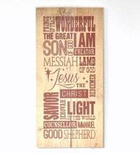 Christmas Sign Christian Subway Art Rustic Wood Pallet Sign 11x22