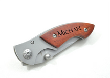 Personalized Rosewood Pocket Knife