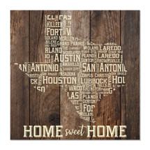 Home Sweet Home Texas (Brown) 12x12