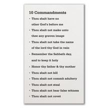 10 Commandments Wood Wall Sign 12x18