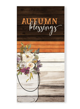 Autumn Blessings Rustic Wood Wall Sign 9x18