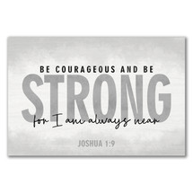 Be Courageous And Be Strong Rustic Wood Sign 12x18