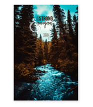 Be Strong And Courageous TimberArt Wood Photo Print 12x18