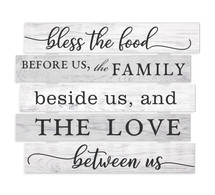 Bless The Food Before Us Rustic Skid Wall Sign 15x18