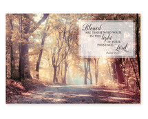Blessed Are Those Who Walk In The Light TimberArt Wood Photo Print 12x18