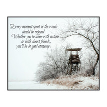 Every Moment Spent In The Woods Printed Wall Sign 12x15