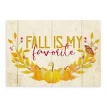 Fall Is My Favorite Rustic Wood Wall Sign 8x12
