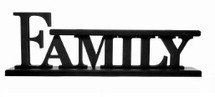 Family 3D Word Art Wood Cutout Shelf Sitter 5.5x16