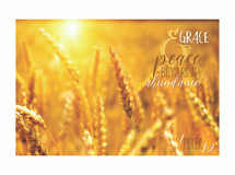 Grace And Peace Be Yours In Abundance TimberArt Wood Photo Print 8x12